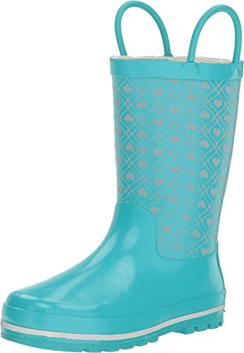 Western Chief Kids Womens Quilted Hearts Reflective Rain Boot (Toddler/Little Kid/Big Kid)