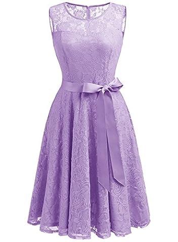 Dressystar DS0009 Robe femme soirée/bal de vintage avec dentelle sans