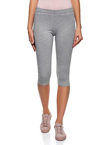 oodji Ultra Damen Jersey-Caprihose Basic, Grau, DE 42 / EU 44 / XL - Capri Jersey
