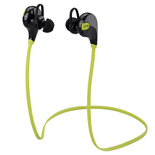 Mpow Swift - Auriculares Estéreo Bluetooth 4.0 In-Ear deportivos para correr y gimnásio, color verde, negro