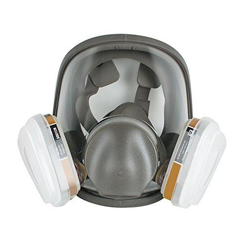 finlon Atemschutzmaske Vollmaske Gasmaske, im Set mit Wechselfiltern und Zubehör, Profi Gasmaske, Wird für Anstriche, chemische Pestizide, organische Gase und Granulate verwendet