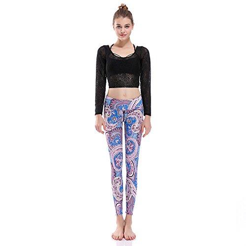 MEI&S Leggings femme imprimé Stretch Yoga Fitness Pantalon sport neuf points collants yoga-0086