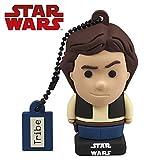 Tribe Star Wars Han Solo USB Stick 32 GB Speicherstick 2.0 High Speed Pendrive Memory Stick Flash Drive, Lustige Geschenke 3D Figur, USB Gadget aus Hart-PVC mit Schlüsselanhänger