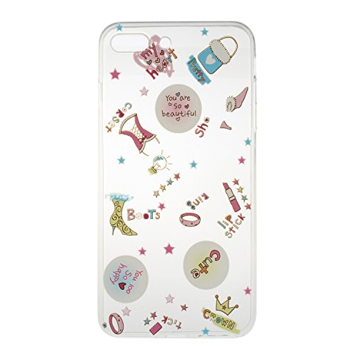 iPhone 7 Plus Silikon Hülle,iPhone 7 Plus Case,iPhone 7 Plus Schutz - Felfy Ultra Dünnen Weiche Gel Elegant TPU Back Case Cover Schutz Zurück Handy Tasche Etui Hülle Schutzhülle Crystal Clear TPU Case Beautiful