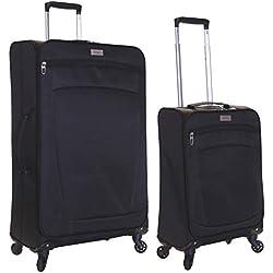 Karabar Marbella juego de 2 maletas ultraligeros, Negro