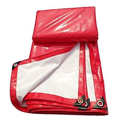 CKH Rot und Weiß PVC-Überdachungs-Spitzen-Tuch-Wasserdichter Sonnenschutzmittel-haltbares Feier-Zelt-regendichter Stoff-LKW Push-Pull 3 * 4 Meter von nuoxuan - Gartenmöbel von Du und Dein Garten