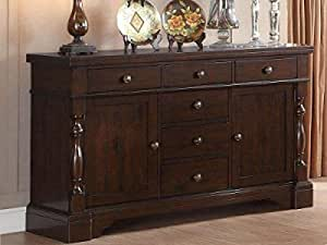 shilpi handicrafts wooden standard storage cabinet in royal look sideboard 6 drawers + 2 door home & office decor product