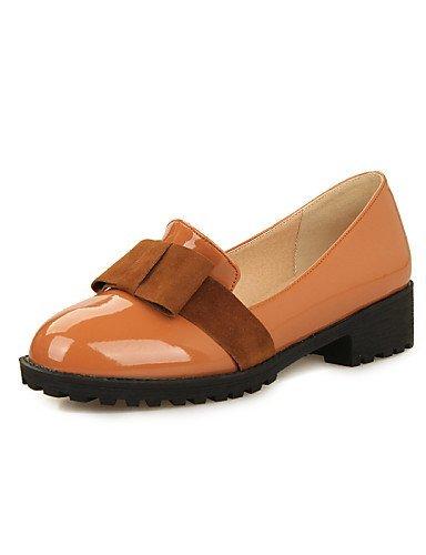 Chaussures Femme Shangyi Gyht - Mocassins - Décontracté - Bout Rond - Bas - Similicuir - Noir / Marron / Rouge Marron