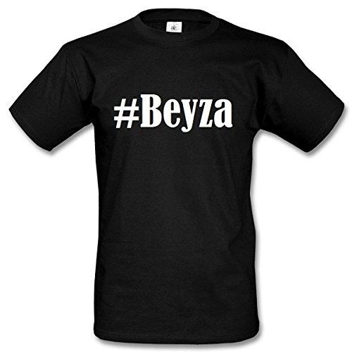 T-Shirt #Beyza Hashtag Raute für Damen Herren und Kinder ... in den Farben Schwarz und Weiss Schwarz