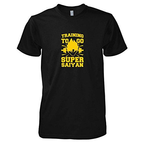 TEXLAB - Training to go Super Saiyan - Herren T-Shirt Schwarz