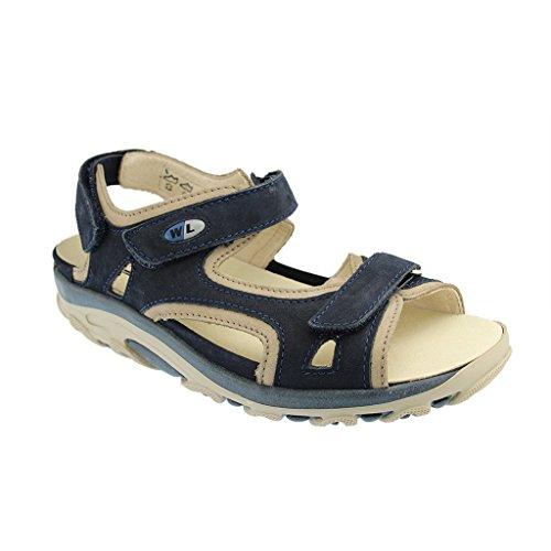 Waldläufer Hanni 448002 691 998 Damen Komfort Sandalette Blau
