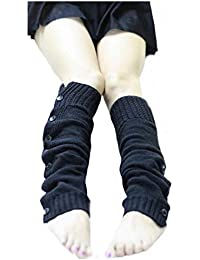 Fulltime® 1 Paire Femmes Bohemia stretch Boot Leg Menottes Bottes Chaussette (Noir)