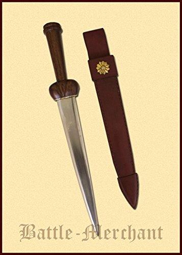 Nierendolch mit Lederscheide Dolch Messer LARP Ritter Samurai Mittelalter Verkauf ab 18 Jahren