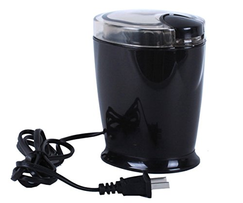 GXSCE Elektrische Kaffeemühle, kleine Kaffeemühle, Edelstahl Kaffeemühle, Einstellbare Kaffeemühle, Espresso Kaffeebohne Grinder, Einstellbare Salz Pfeffermühle Grinds Bohnen Gewürze Gebürstet (Stück 5 Espresso Holz)