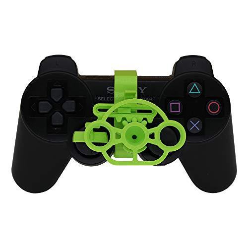 PS3 Gaming Rennrad, 3D-bedrucktes Mini-Lenkrad für Playstation 3 Controller Grün (Brilliant Green)