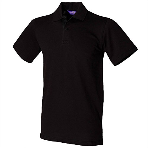 Henbury Unisex Polo Shirt Slim Fit Stretch White