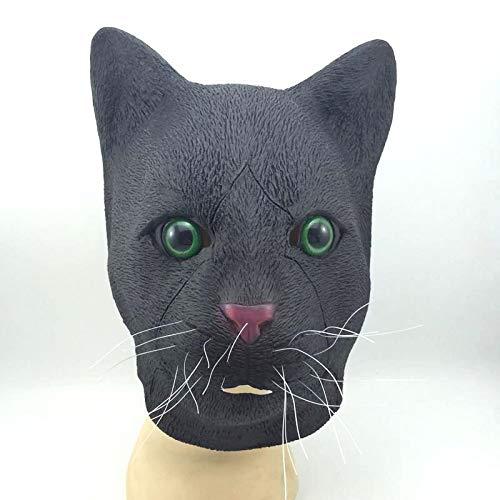 MIANJU@ Halloween Maske Halloween Katze Kopf Maske Komet Schwarze Katze Horror Lustige Kopfbedeckungen Prom Party Performance ()