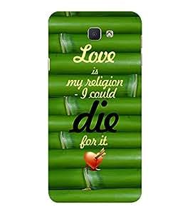 EPICCASE love is my religion Mobile Back Case Cover For Samsung Galaxy J7 Prime (Designer Case)
