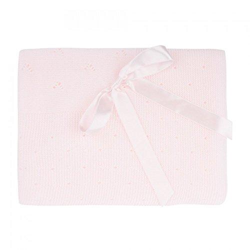 Toquilla de punto en color rosa bebe