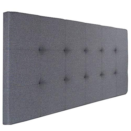 IDMarket - Tête de lit capitonnée en Tissu 160x58 cm Grise Anthracite