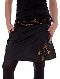 Vishes – Alternative Bekleidung – Bestickter Baumwollrock mit Blumen
