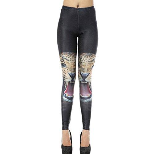 Ahatech Frauen reizvolle dünne Stretch-Leopard-Druck-Strumpfhose -Gamaschen-Hosen (Druck-strumpfhosen)