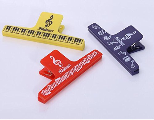 etgtektm-music-note-clip-clip-book-page-clip-plastiques-musique-papeterie-assorted-pack-of-3