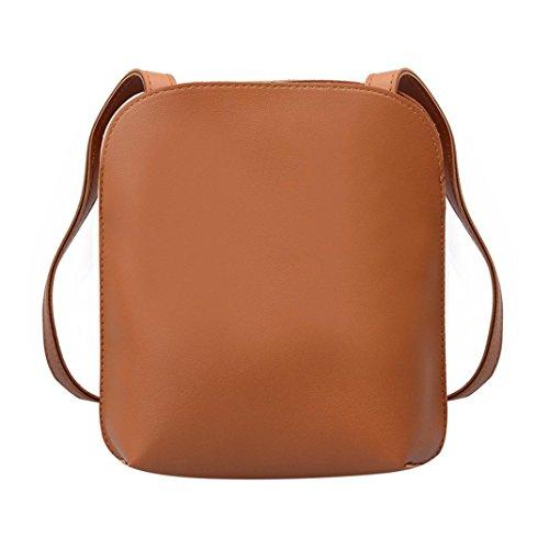 Frauen Mode Shell Bag VENMO Umhängetasche Damen Mini Schultertasche Schultertasche Damenhandtaschen Vintage Handtasche Damen Umhängetasche Sling Bag Messenger Bag Cross-body Henkeltasche (Brown)