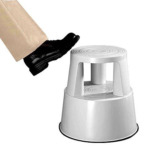 neoLab 2-2054 Steighilfe aus Kunststoff mit Rollen, Lichtgrau