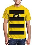 clothinx Herren T-Shirt Karneval Biene Willi Gelb Größe XXL