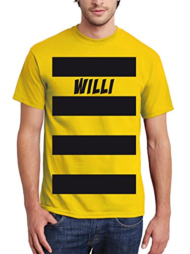 clothinx Herren T-Shirt Karneval Biene Willi Gelb Größe XL Sale RR_ZZ_MM (Kostüme Sale)