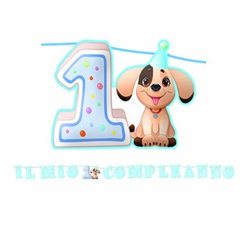 BiG Party Kit Scritta maxi Primo Compleanno Jimmy cm.600