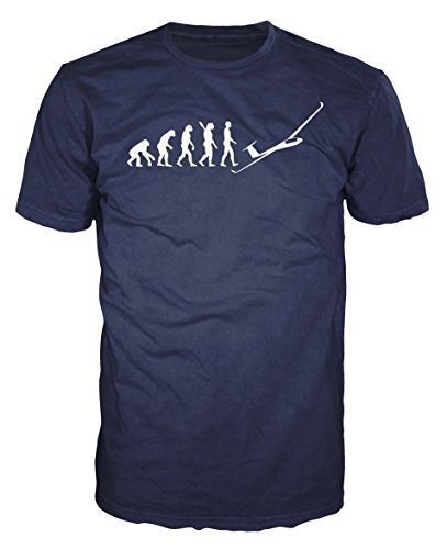 Glider Evolution Funny T-shirt (S, Navy Blue)