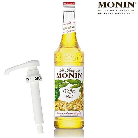 Monin Coffee Syrup in Toffee Nut 70cl Glass Bottle & 70cl Monin Pump Set