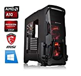 PC Gamer AMD A10-9700 - Radeon R7 séries - 16GO RAM - SSD 120GO + DD 2000GO - WiFi -...