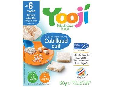 YOOJI - Cabillaud cuit - 120 g - Surgelé