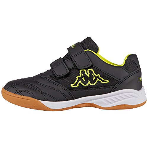 kappa-unisex-kids-kickoff-teens-low-top-sneakers-black-black-yellow-6-uk