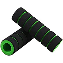 Vococal - 1 par Tapa Cubierta de Manillar Esponja Antideslizante Ergonómico / Agarre de Extremo de Barra de Manija / Barra de Mango para Bicicleta de Bici de Montaña MTB Ciclismo,Verde