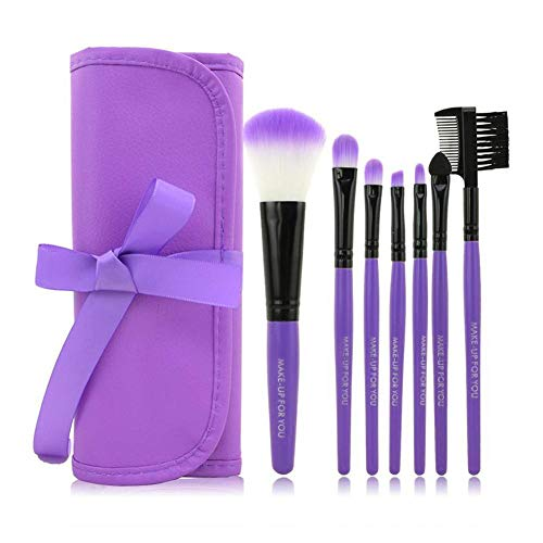 Ensemble de pinceau de maquillage 7pcs, O.TWO.O Beauty Set de maquillage Parfait pour le mélange de produits cosmétiques liquides/impeccables.