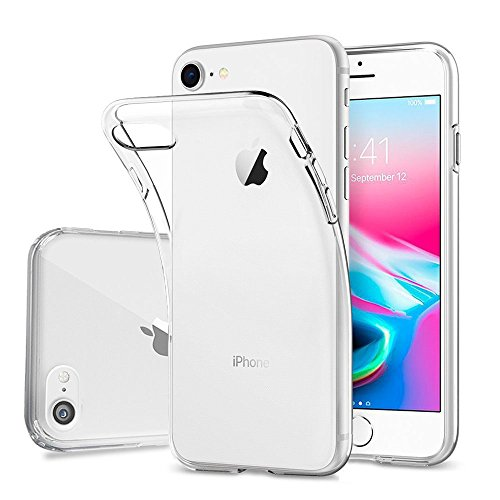 Hülle (Hülle für iPhone 8 iPhone 7, FayTun Handyhülle für iPhone 7 iPhone 8- Crystal Clear Ultra Dünn Durchsichtige Silikon Schutzhülle TPU Case für iPhone 7/iPhone 8 (4.7 Zoll, Transparent))