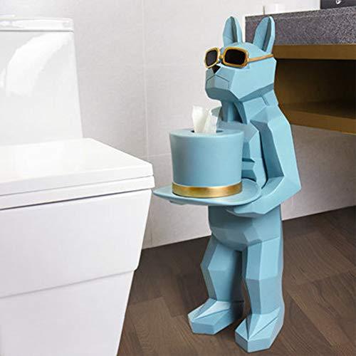WEN PING Toilettenpapierhalter Toilettenpapierhalter, Kreative Bad Handtuch Box Wc Handtuchhalter Free Punch Hand Papierhalter Wohnzimmer Tablett (Farbe : B)