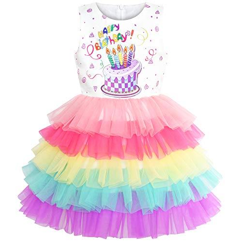 tstag Prinzessin Regenbogen Kuchen Ballon Gr. 116 ()