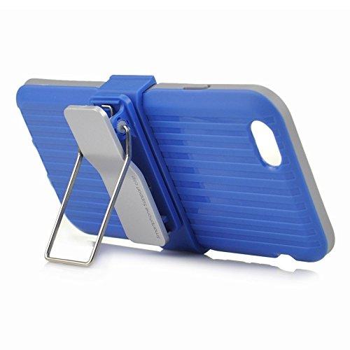 Wkae Case Cover plastik und tpu - kombination mit drehbaren clip und inhaber für das iphone 6 &65 ( Color : Red ) blau