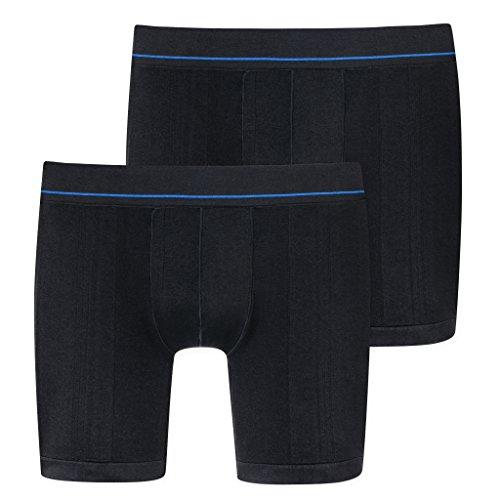 2er Pack - Schiesser - Herren Seamless Active Men - Sport Shorts / Pants mit Bein - 161886 - Funktionswäsche (Schwarz, 5 / M)