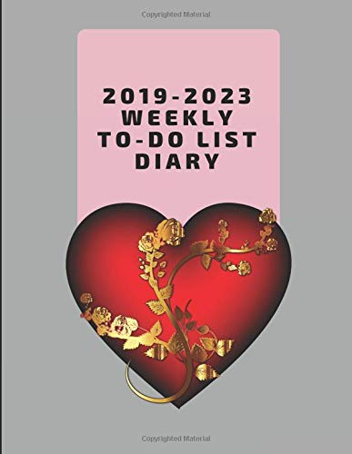 2019-2023 Weekly To-Do List Diary: Five Year Task Organizer