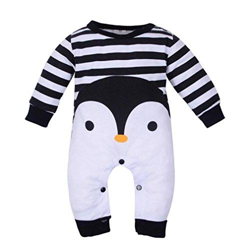 GiGiSun Neugeborenes Baby Mädchen Jungen Langarm Cartoon Print Strampler Overall Pyjamas Outfits (70)