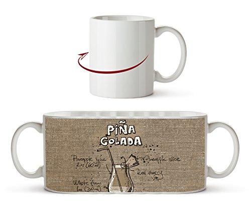 Rezept für eine Pina Colada Effekt: Sepia als Motivetasse 300ml, aus Keramik weiß, wunderbar als Geschenkidee oder ihre neue Lieblingstasse. - Pina-colada-joghurt