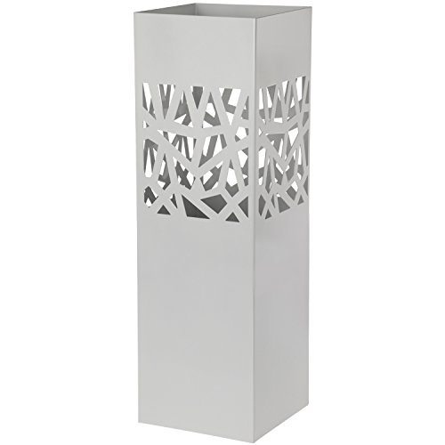 Paraguero Metal Blanco Cuadrado _15x15x49 Cm