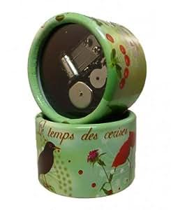 Musikspieluhr, Spieluhr, Melodie: Le temps des cerise - Design: Garten