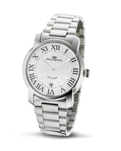 Philip Ladies Couture Analogue Watch R8253198615 with Quartz Movement, Silver Dial and Stainless Steel Case